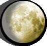 Waxing Gibbous Moon image.