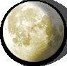 Waning Gibbous Moon image.