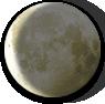 Waning Crescent Moon image.